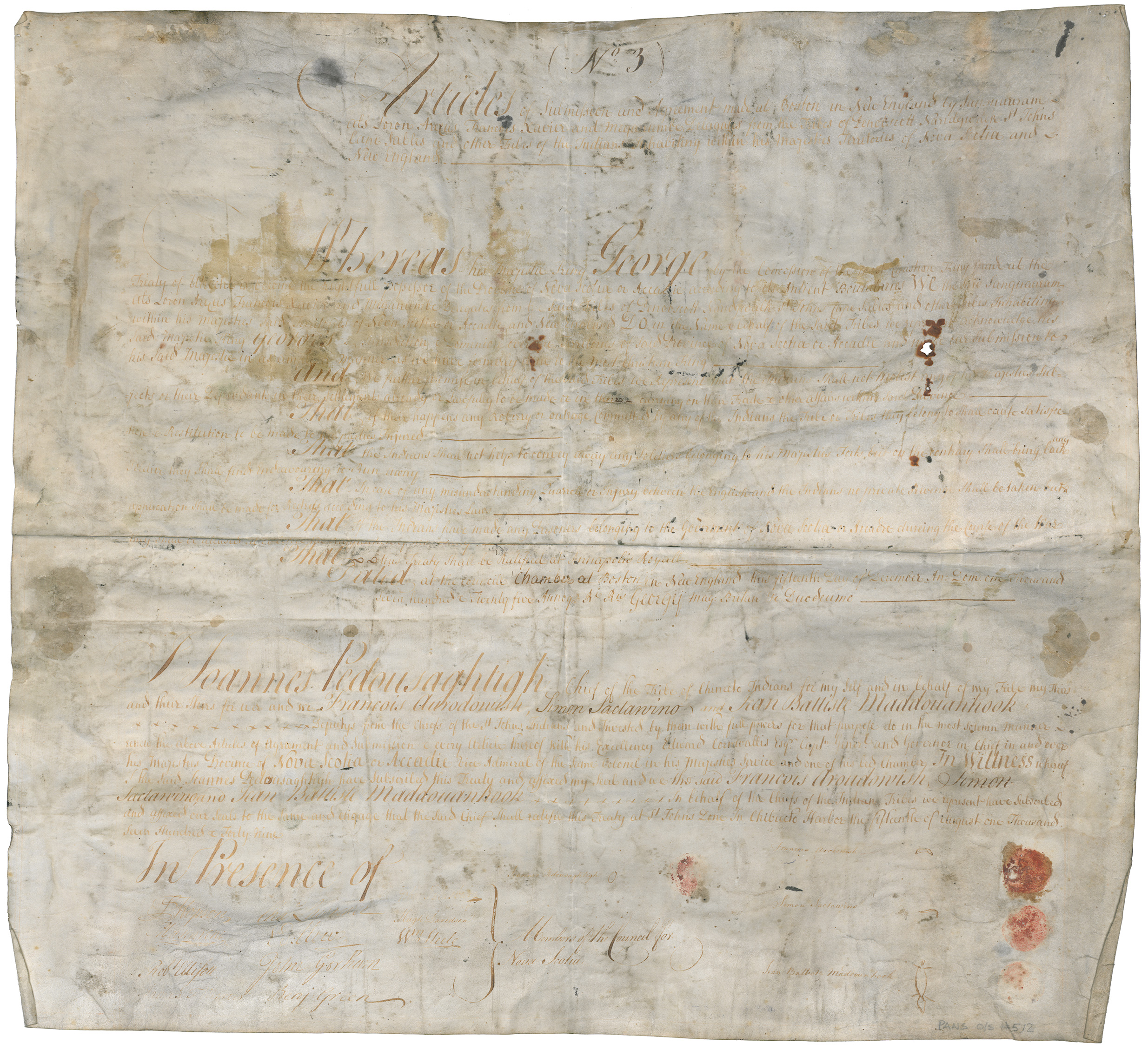 1749 Renewal at Chebucto of the Treaty of 1725