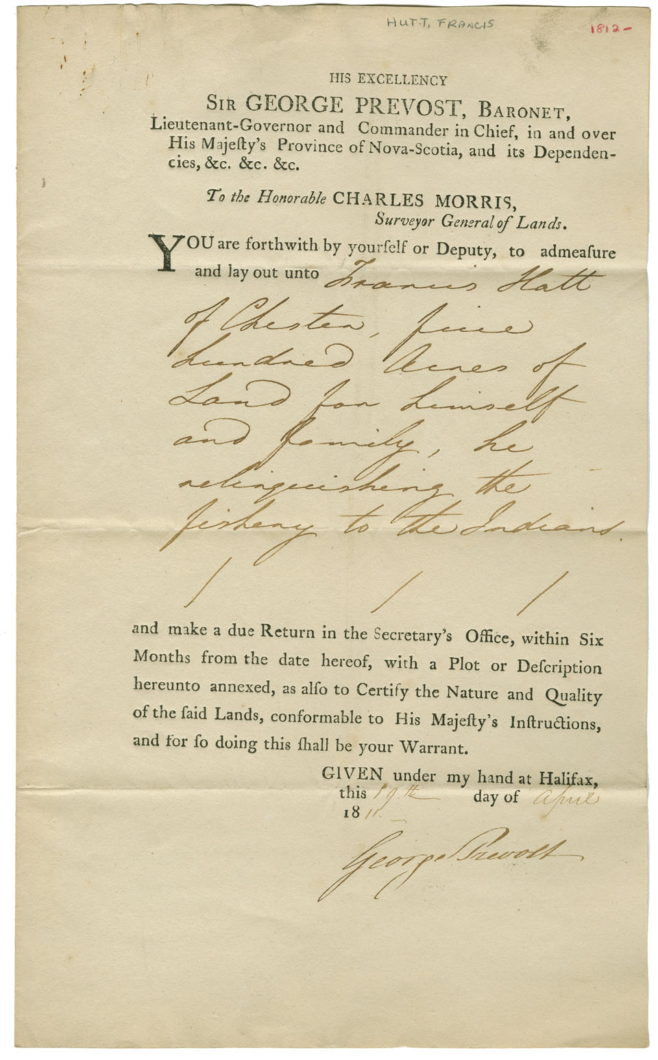 Nova scotia archives mikmaq holdings resource guide petition by hutt for land in lieu of lands at chester relinquished for the mikmaq date 1812 reference no nova scotia department of lands and forests solutioingenieria Images