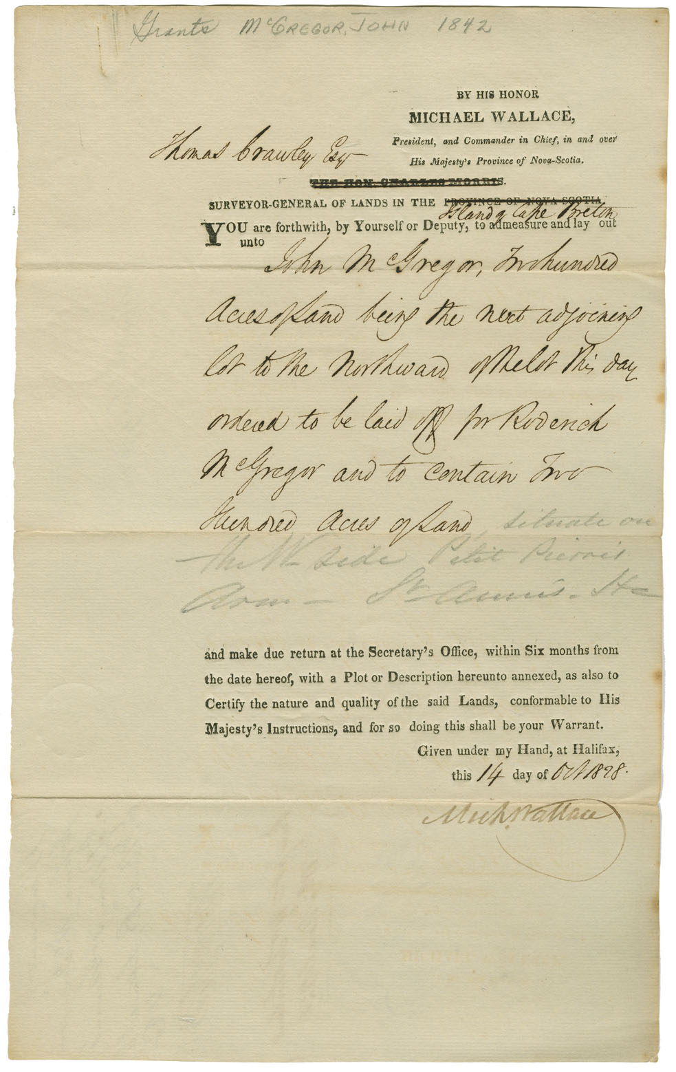 Nova scotia archives mikmaq holdings resource guide petition of john campbell asking for land east of the mikmaq chapel on chapel island date 1842 reference no nova scotia department of lands and solutioingenieria Images