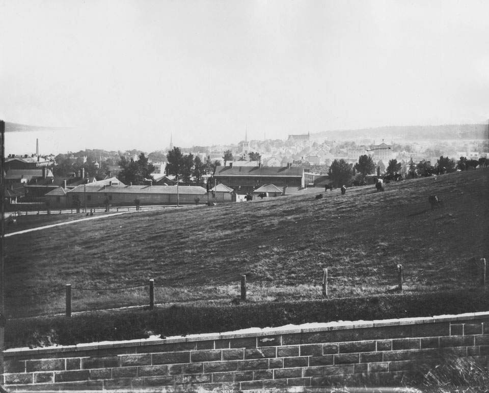 Notman's Panorama from the Citadel, frame six looking south towards Royal Artillery Park