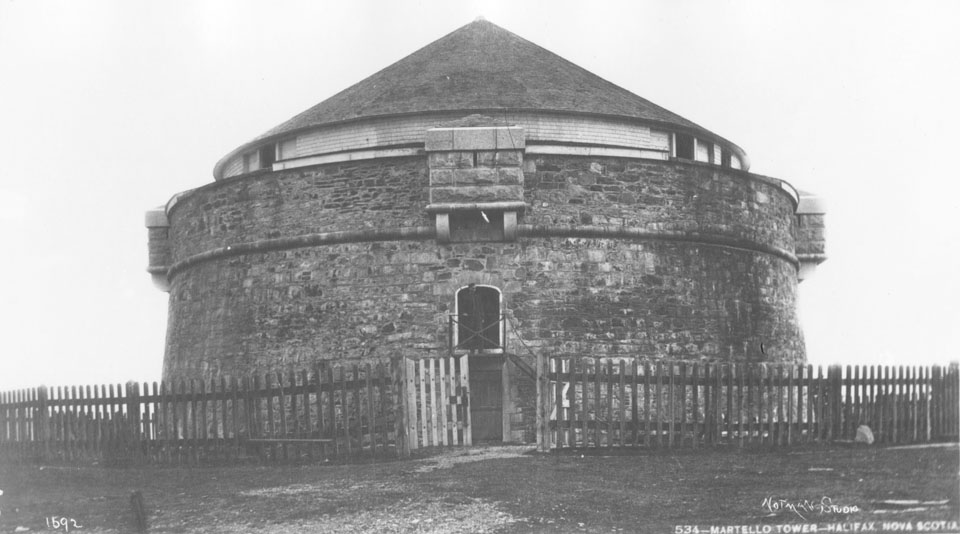 Prince of Wales, Martello Tower, Halifax, Nova Scotia, on reverse, Court House, Spring Garden Road
