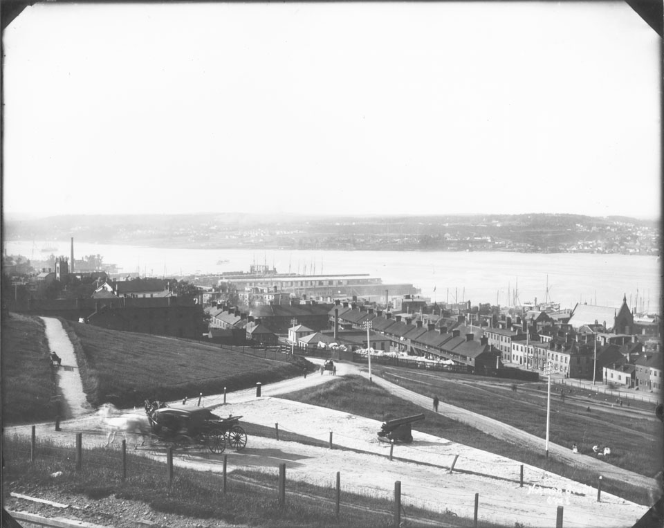 View from Halifax Citadel, Halifax, Nova Scotia, looking southeast