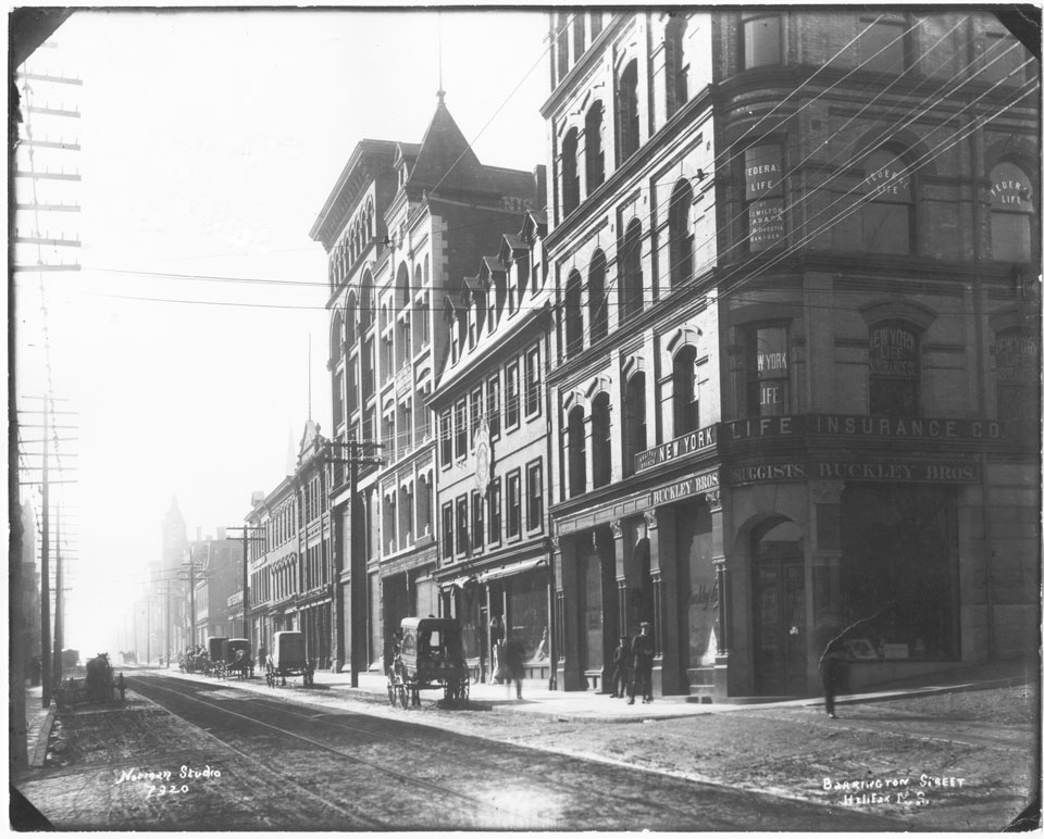 Looking South on Barrington Street from Prince Street, Halifax, Nova Scotia