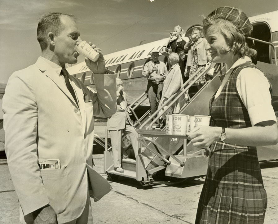 ''Ed Migdalski Catches a Real Nova Scotia Welcome at Yarmouth, 1960''