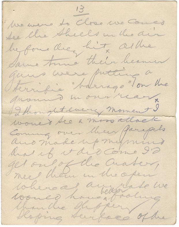 Letter to his (Capt. L. Howard Johnstone's) mother. Flanders, April 20, 1916