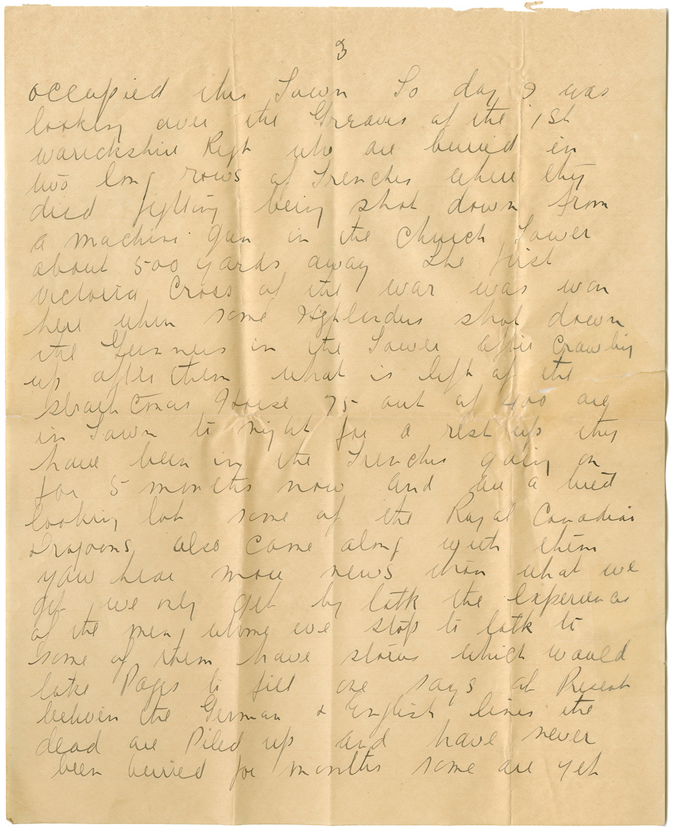 Letter from Pte. Al. Fraser to Mrs. Clarence [Edna] Hubley, Oct. 11, 1915