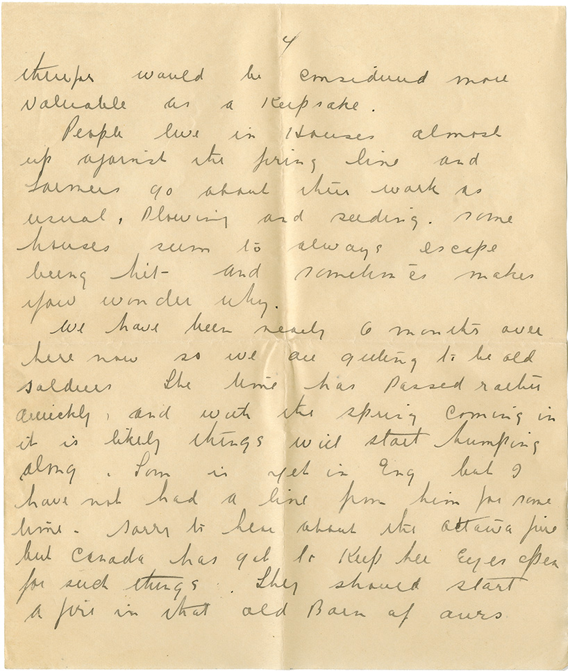 Letter from Pte. Al. Fraser to Mrs. Clarence [Edna] Hubley, February 19, 1916