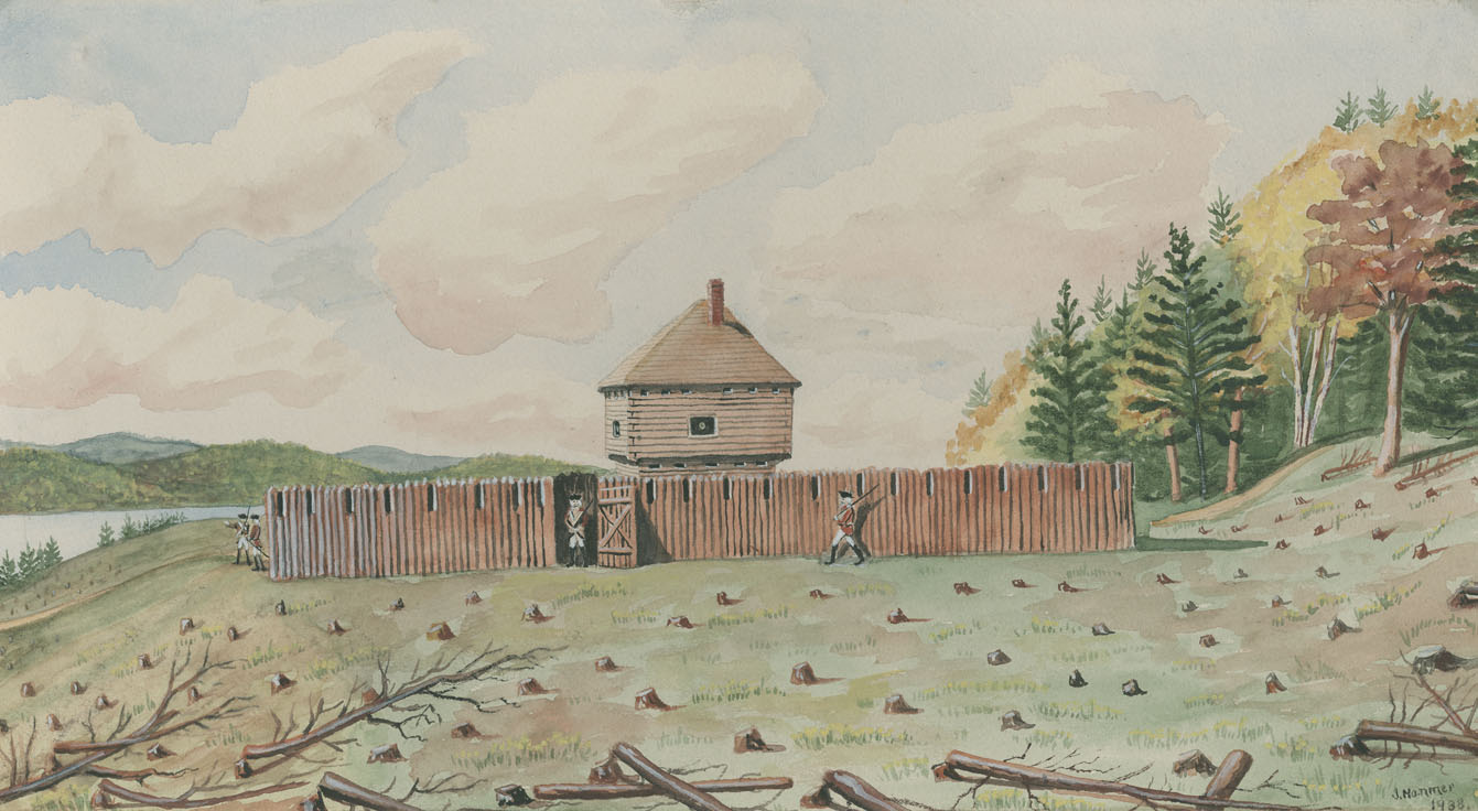 ''1751 North Blockhouse. Halifax (Present Site) Fairview Cemetery.''