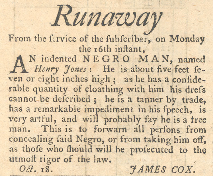 Advertisement for runaway