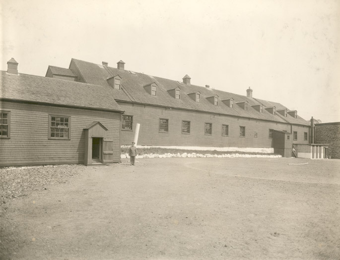 Melville Island military prison, Halifax, which served as temporary accommodation for African American refugees after the War of 1812
