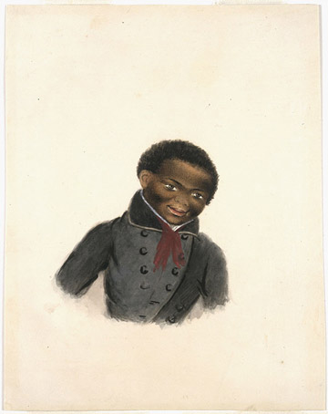 africanns : Untitled portrait of a black youth (Nova Scotia)