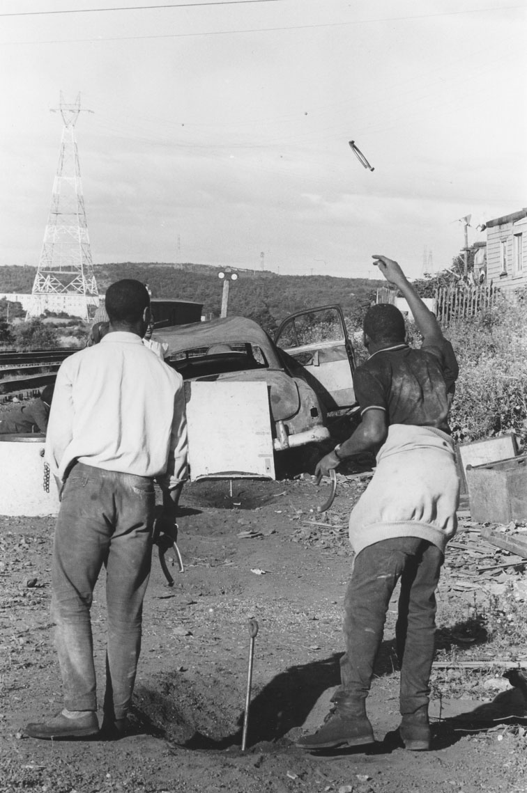 africville : Young men playing horseshoes, Africville.