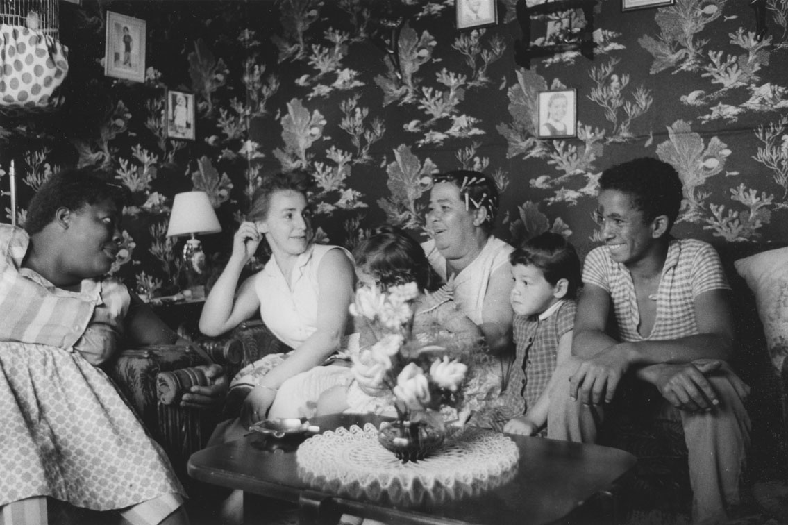 africville : Family in their living room, Africville
