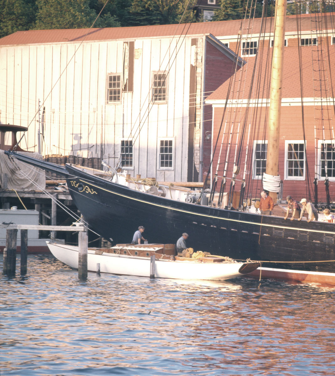 <i>Bluenose II</i> being refitted at Smith & Rhuland, Lunenburg, NS