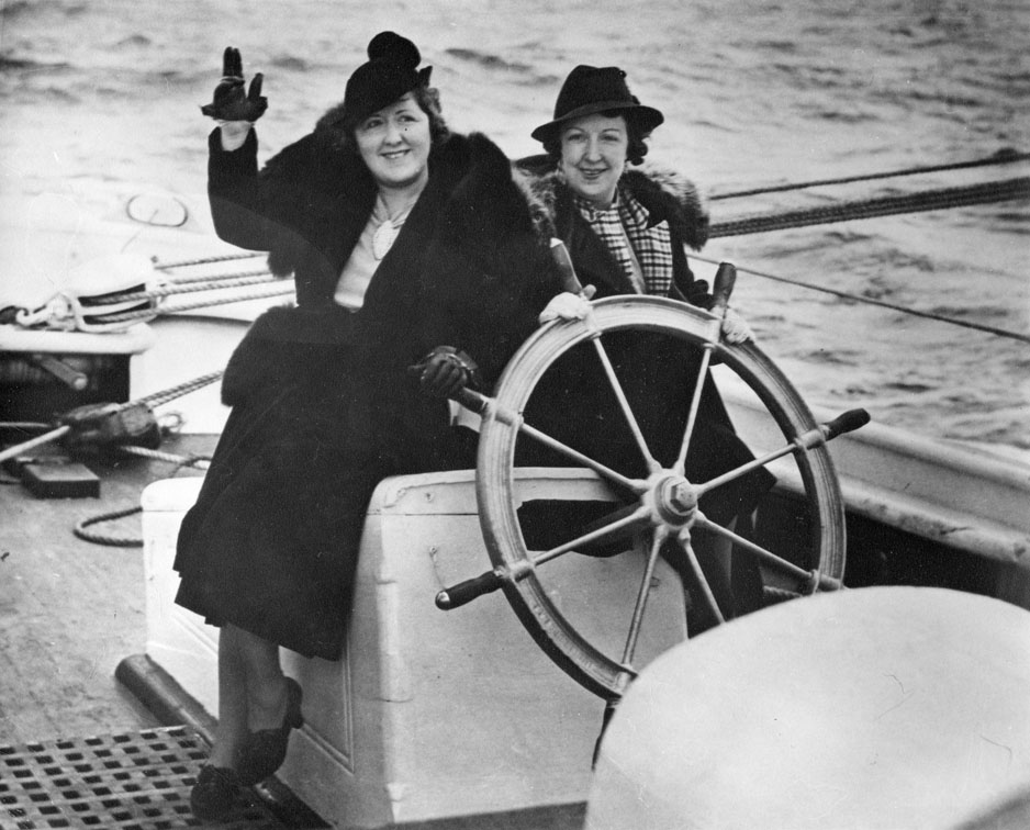 Mrs. Sweeney (left) and unidentified woman (right), 1938 trip