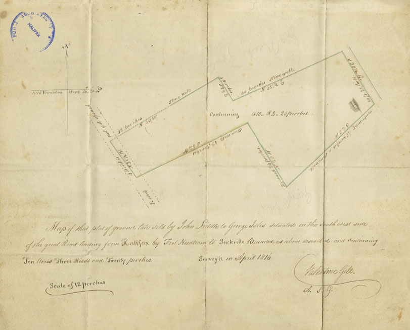 builtheritage : Map of That Plat of Ground Late Sold by John Liddle to George Isles...