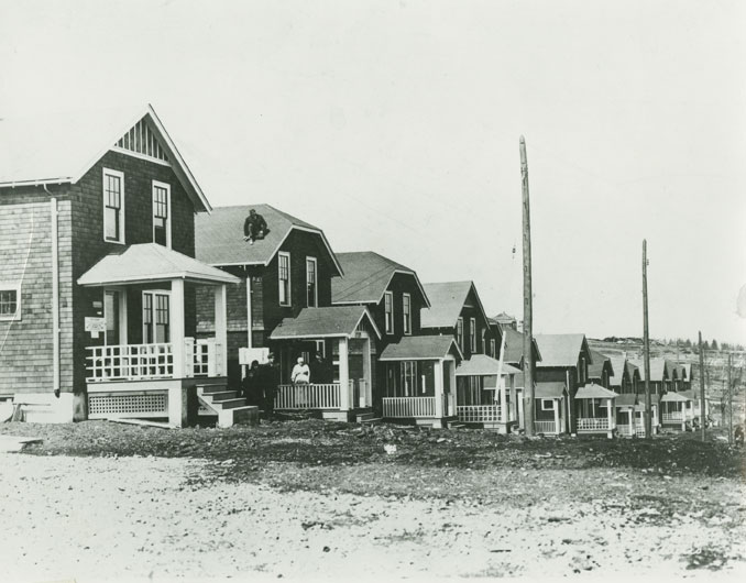 Recently Completed Houses on Albert Street, Halifax, Constructed by J.H. Holman Co. Ltd. for the Halifax Housing Commission on Land Purchased from the Halifax Relief Commission