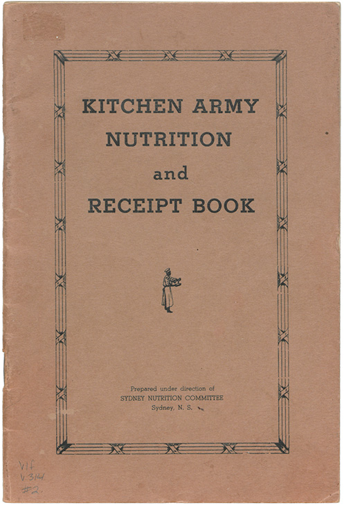 Kitchen army nutrition and receipt book by Sydney Nutrition Committee