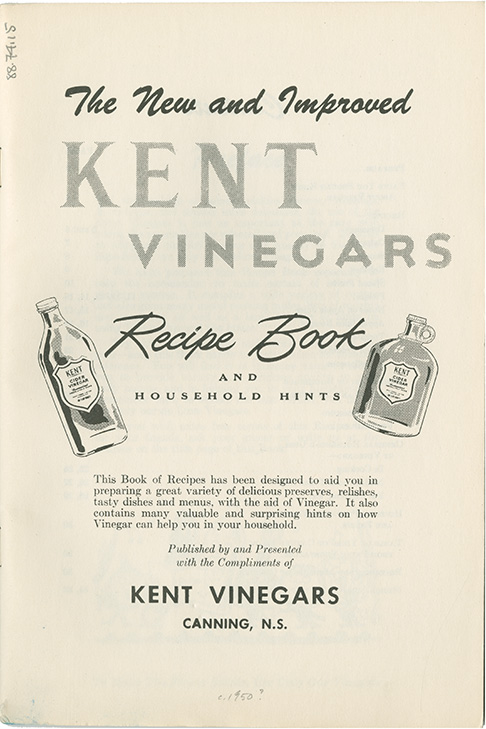 Kent Vinegars Recipe Book and Household Hints