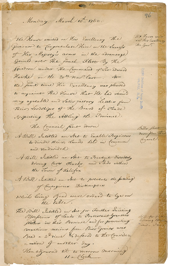 Document regarding the House of Assembly and the Mi'kmaq Treaty