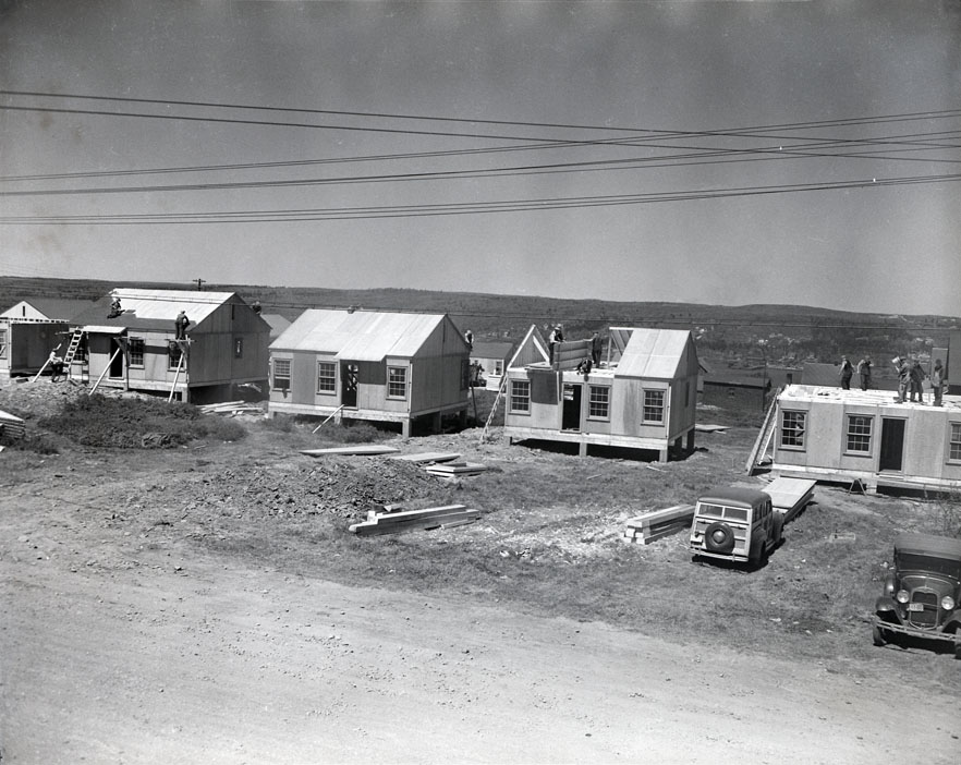 Wartime Housing, Glebe Lands, Residential Units Under Construction