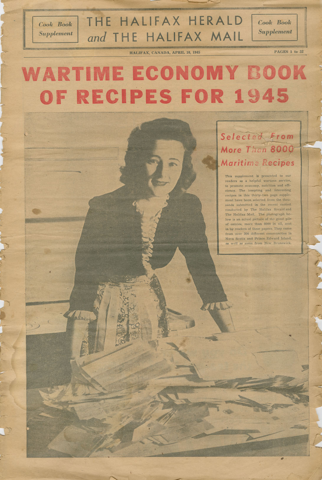 Wartime Economy Book of Recipes for 1945