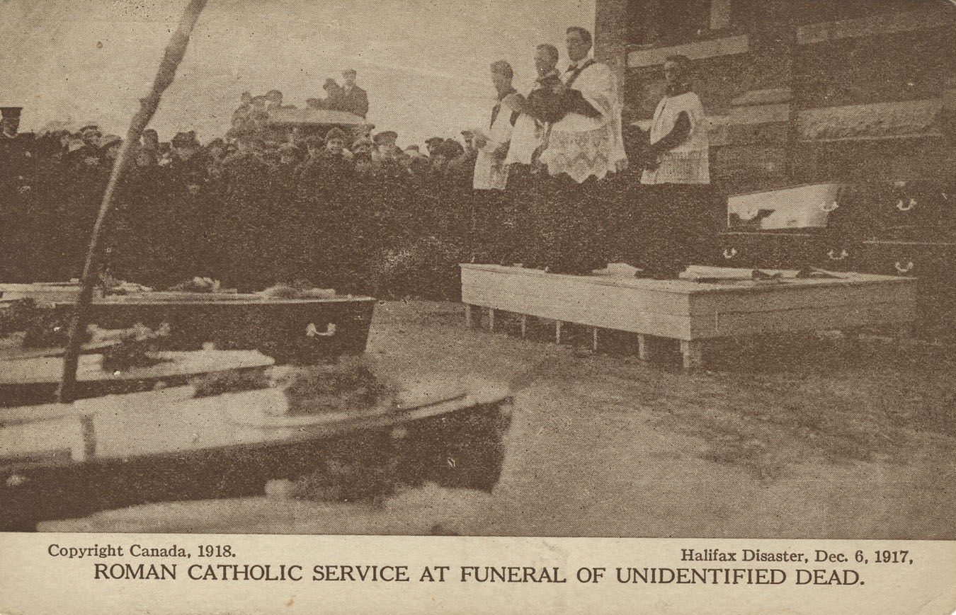 Roman Catholic Service at Funeral of Unidentified Dead