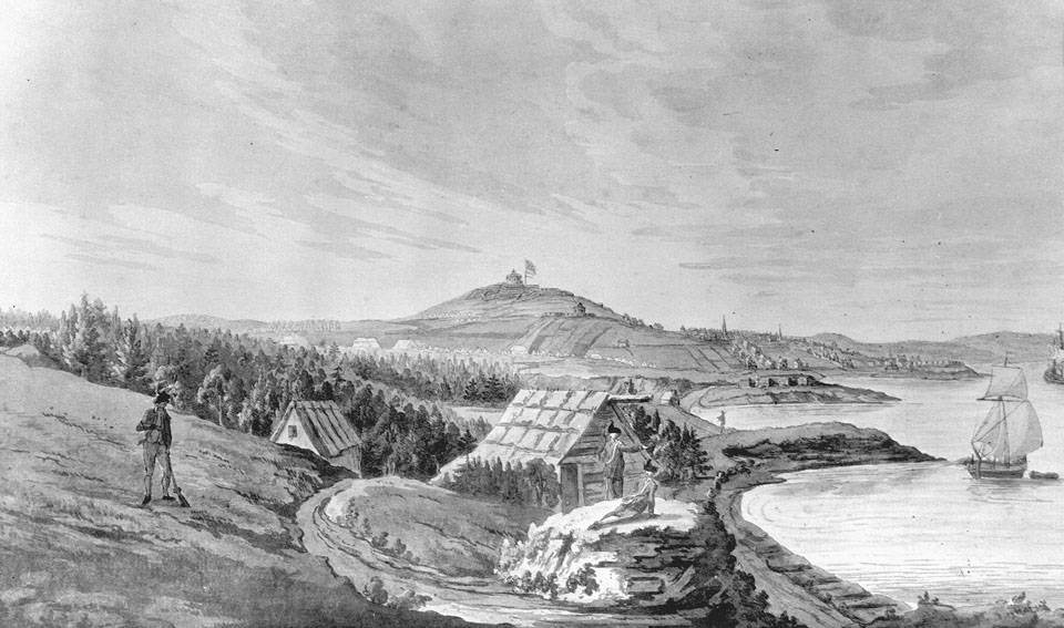 South Aspect of Halifax from near Point Pleasant Park, ca. 1780
