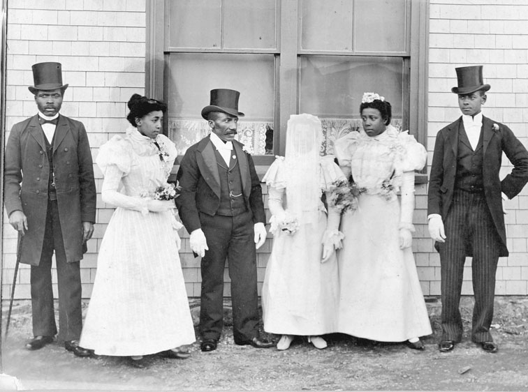 Wedding of Miss Mary Borden and Mr. Richard Tynes, Dartmouth, 1898