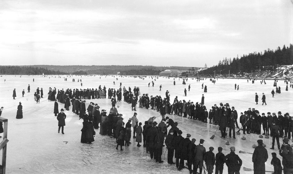 Curling on the Dartmouth Lakes, ca. 1897