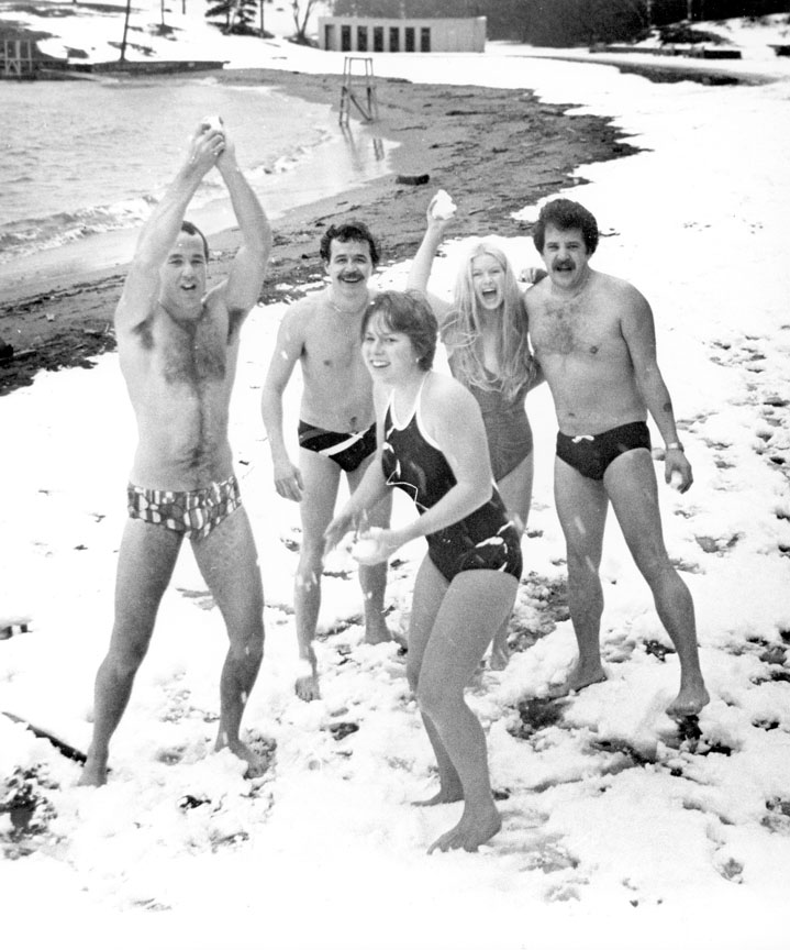 Polar Bear Swim on New Year's Day, Halifax, between 1986 and 1988