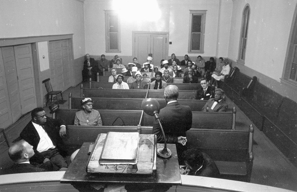 halifax : Africville Relocation Meeting, Seaview Baptist Church, Halifax, ca. 1962