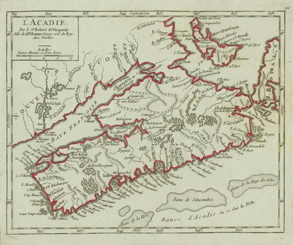 'L'Acadie' map of Acadia