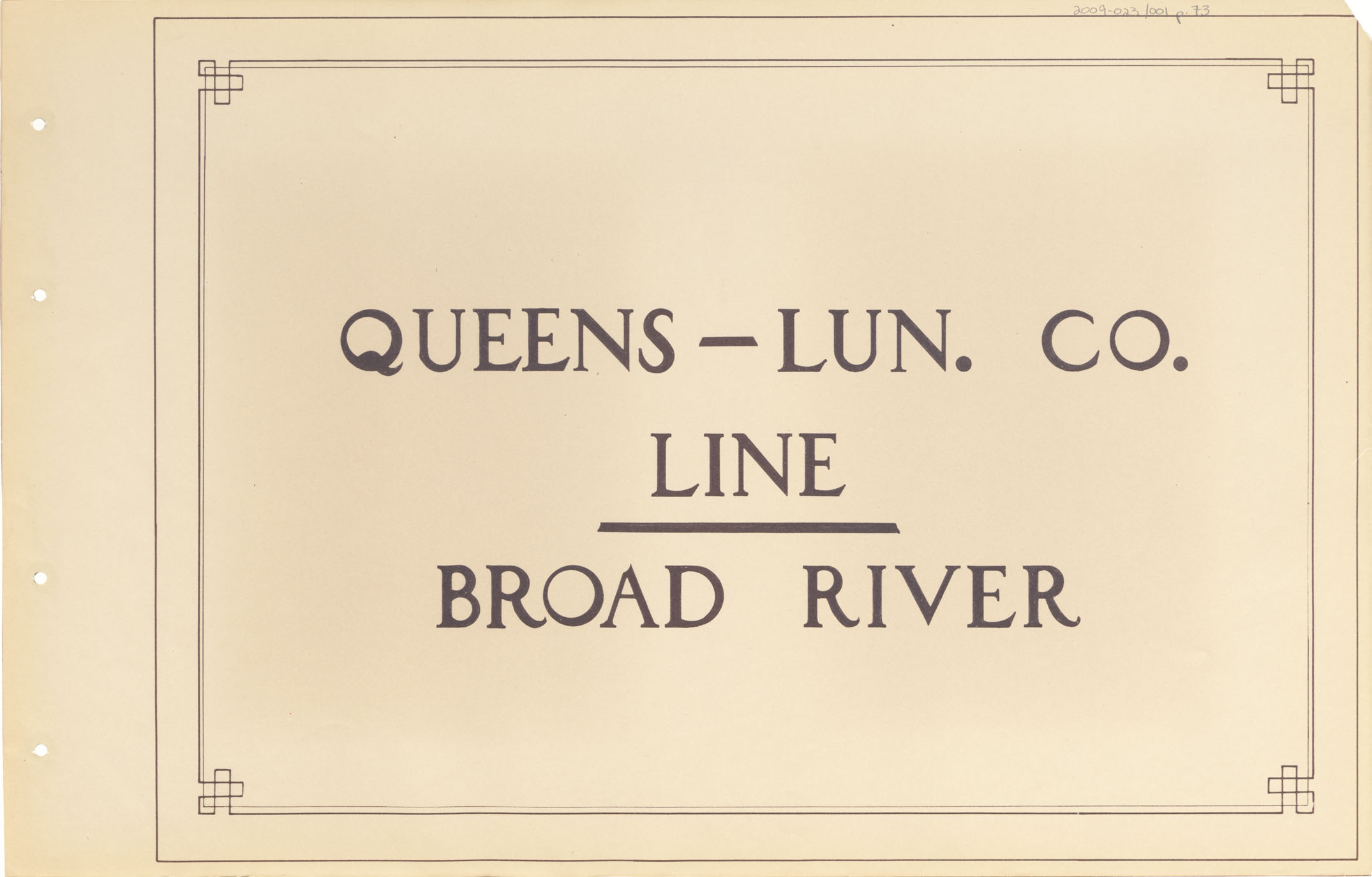 Queens - Lunenburg County Line - Broad River