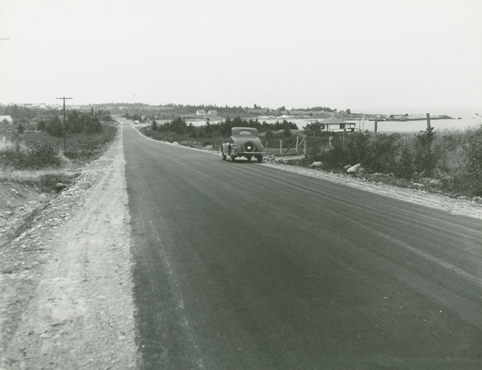 Queens - Lunenburg County Line - Broad River Route No. 3, east portion of Hunts Diversion, looking east