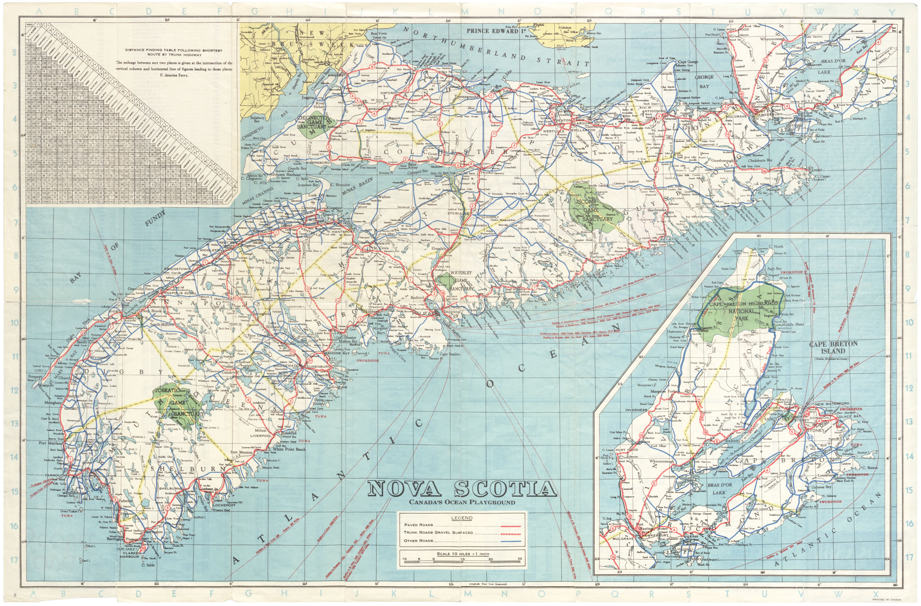 Official Highway Map, Province of Nova Scotia, Canada's Ocean Playground