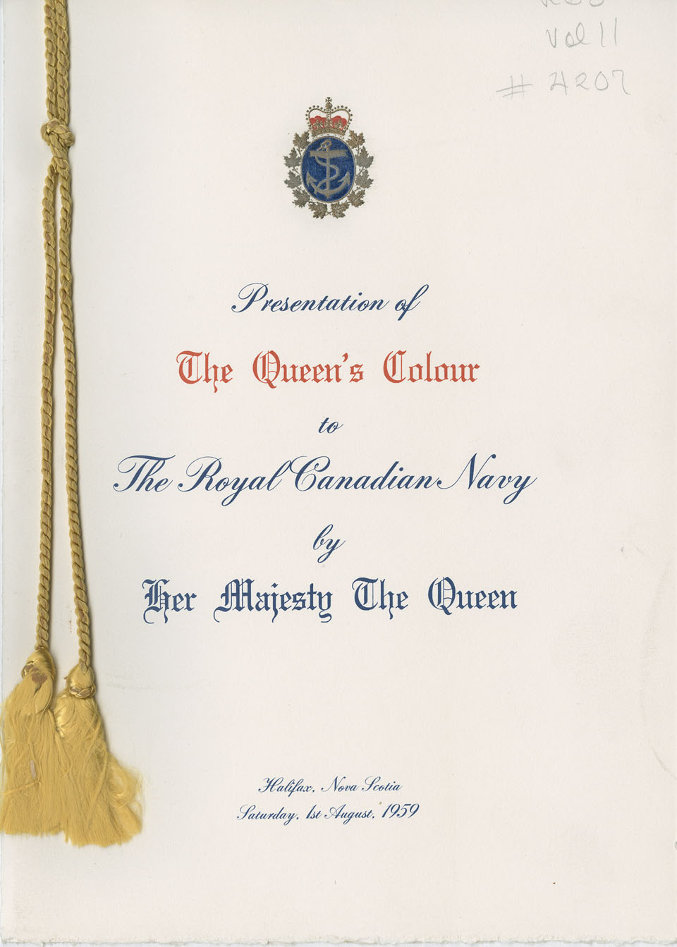 Presentation of The Queen's Colour