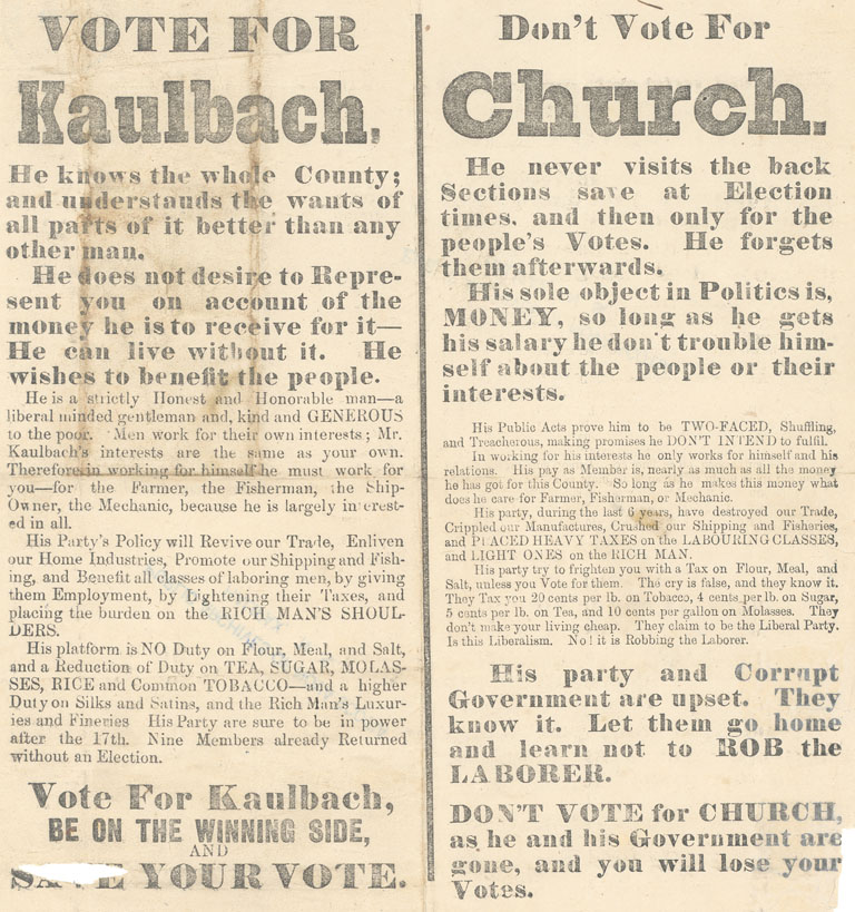 ''Vote for Kaulbach. Don't Vote for Church