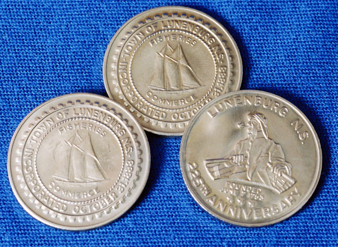 Town of Lunenburg 225th Anniversary medallions