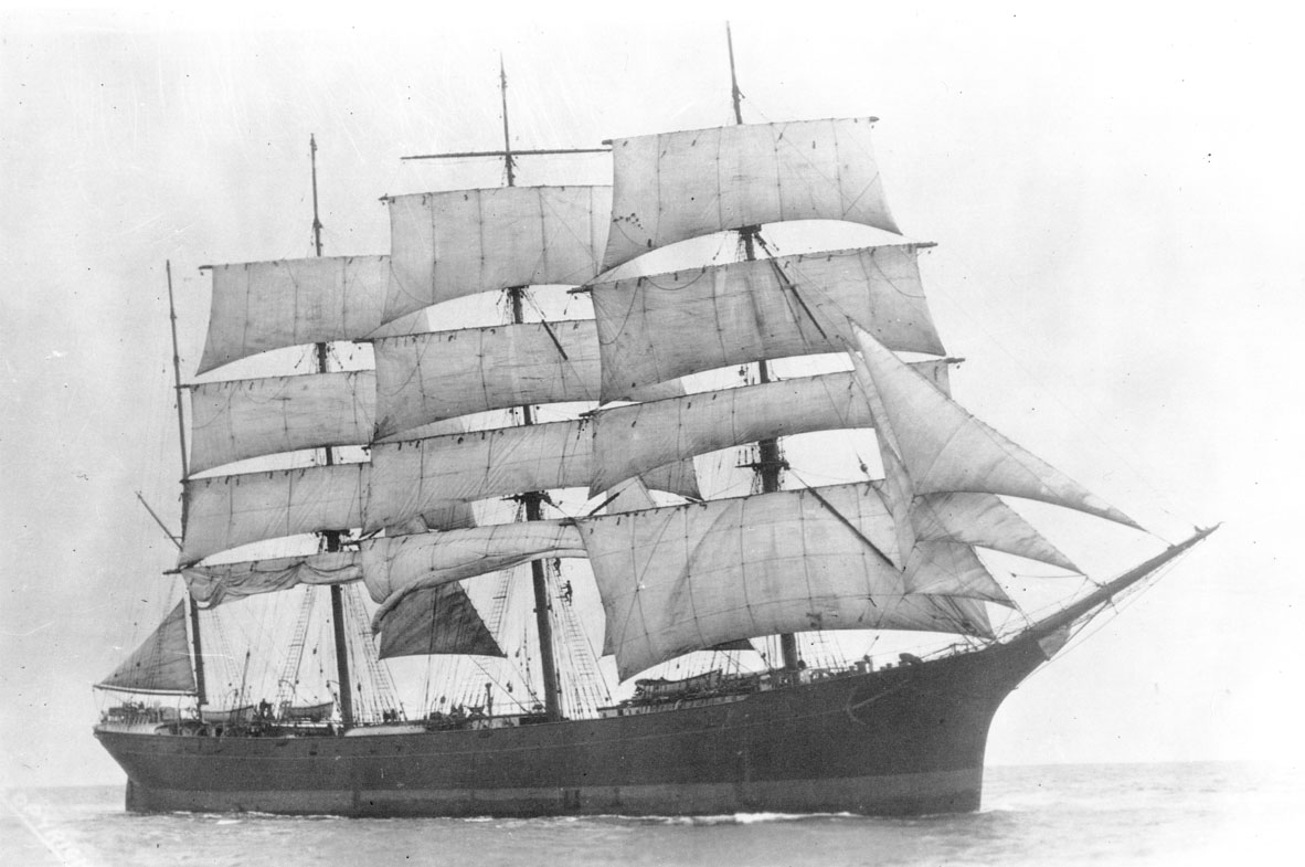 Unidentified full-rigged ship