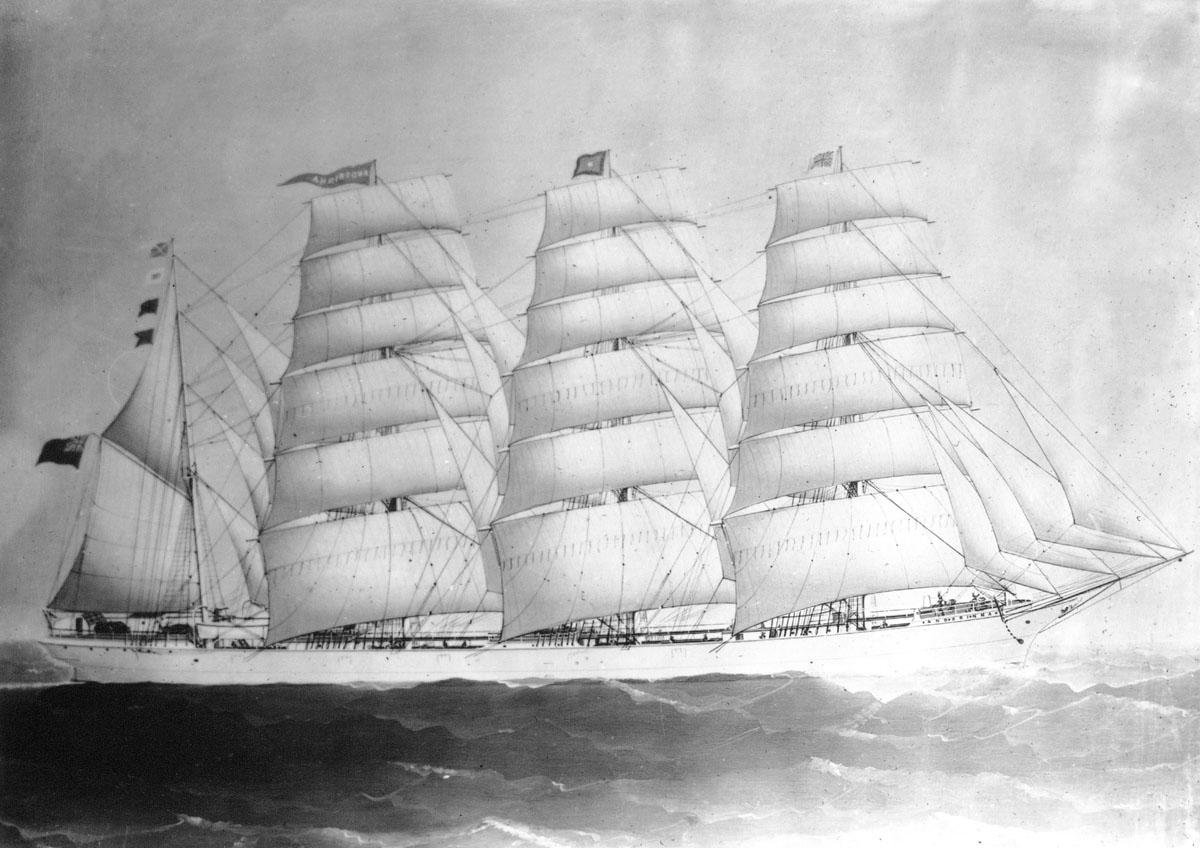 Full-rigged ship <i>Andorinha</i>