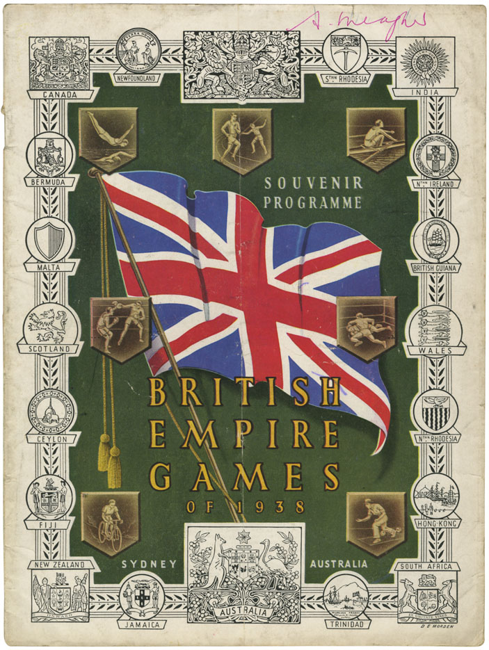 ''Souvenir Programme British Empire Games of 1938, Sydney Australia''