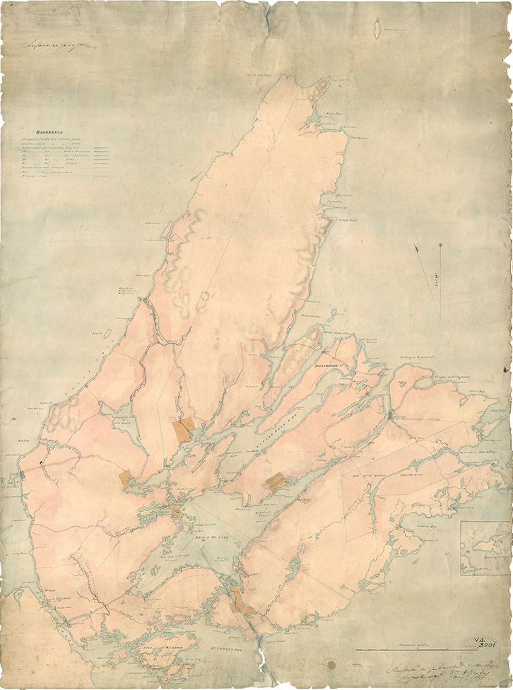 Map of Cape Breton, 1831
