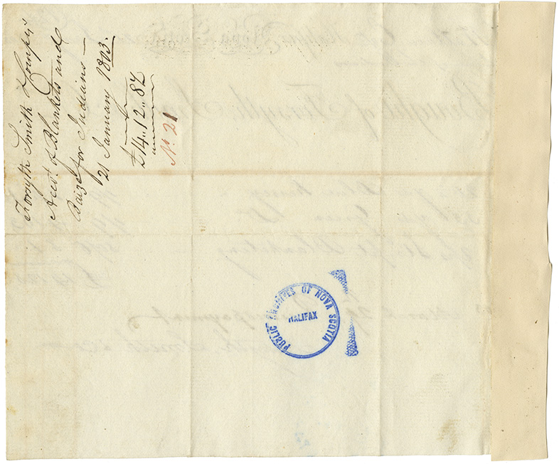 Invoice from Forsyth, Smith & Co. for cloth purchased by M. Wallace for the use of Mi'kmaq.