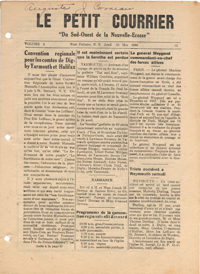 Nova Scotia Archives Newspapers