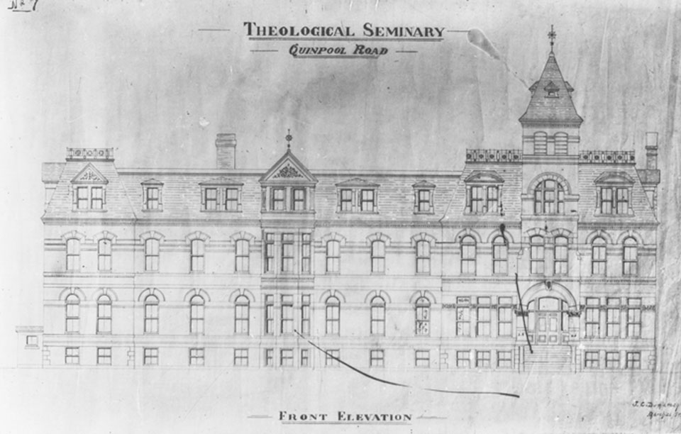 Photograph of Architectural Drawings of Theological Seminary, Quinpool Road, Halifax, Nova Scotia