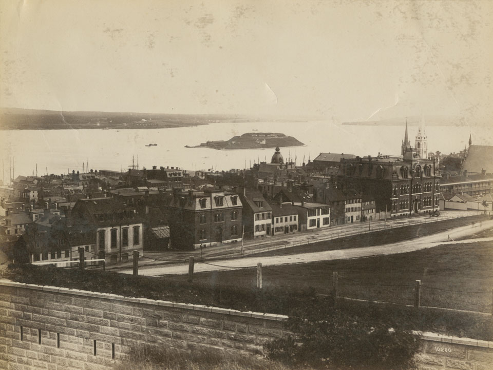 Halifax from the Citadel looking southeast along Brunswick Street from Prince to Sackville Streets