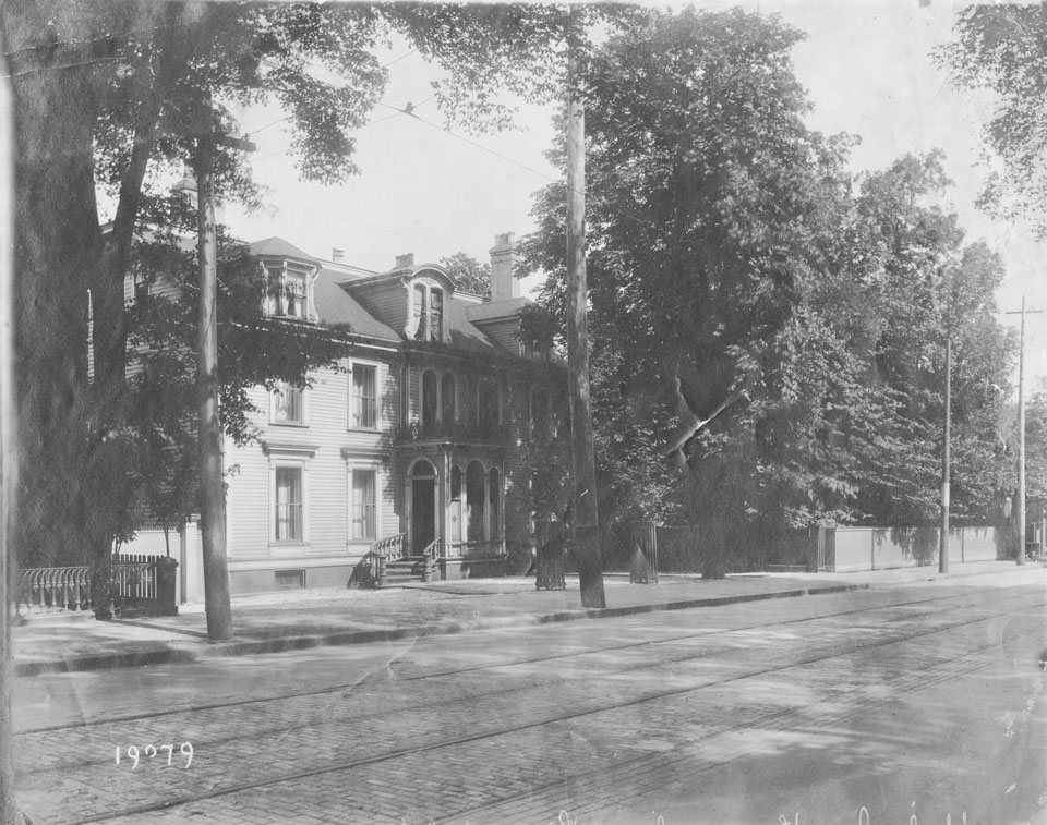 Barrington Street at the foot of Harvey Street, Lawrence Doyle, Sir Edward Kenny, Wiley Smith House, Demolished to make way for the YWCA