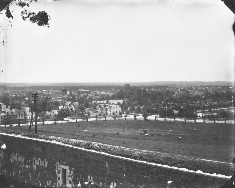 View of Halifax, Nova Scotia, from the Citadel looking southwest across the Public Gardens
