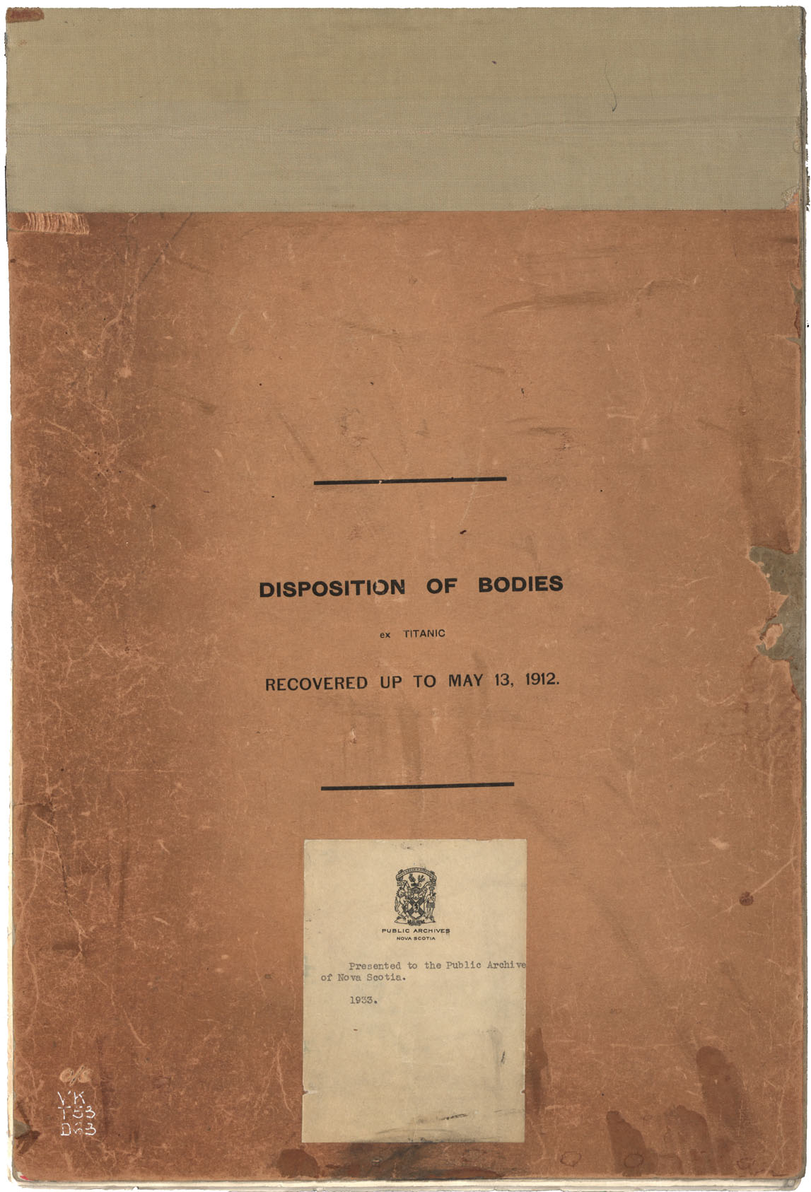 List of Bodies and Disposition of the Same